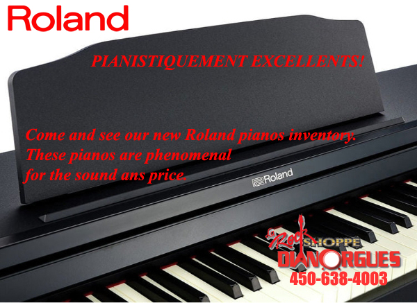 come and see our new roland pianos inventory these pianos are phenomenal for the sound and price dianorgues la rock shoppe diane organiste ch cour de piano music lesson